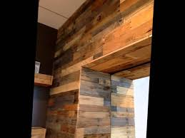 Wood Paneling Walls by Pallet Wood Wall Panels Youtube