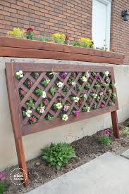 diy vertical flower bed the idea room
