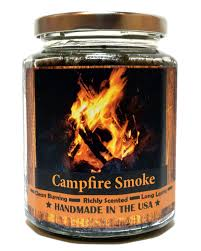 amazon com campfire smoke wood wick candle super scented natural