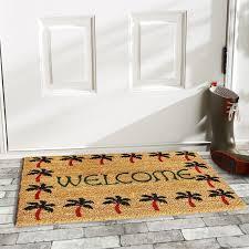 Welcome Doormats Home U0026 More Palm Tree Border Welcome Doormat U0026 Reviews Wayfair