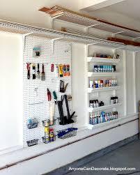 Peg Board Shelves by Garage Storage On A Budget U2022 The Budget Decorator