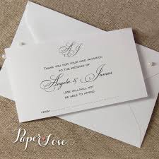 Wedding Invitation Reply Cards Beautiful White Or Cream Wedding Reply Card With Matching Envelope