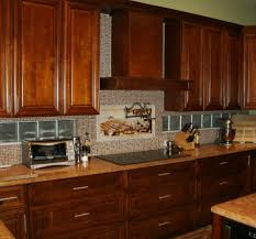6003 coastal grey countertop wood cabinets brick backsplash