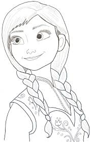 coloring nice frozen anna drawing art coloring frozen