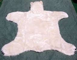 faux polar bear rug with head roselawnlutheran