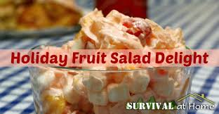 fruit salad delight survival at home