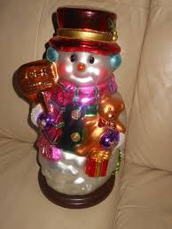 pacconi large glass ornaments musical animated