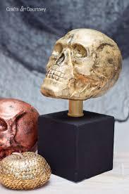 pottery barn knockoff skull halloween craft
