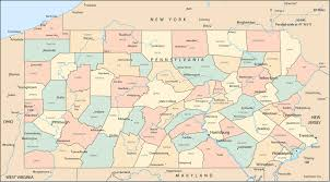 Pennsylvania Counties Map by Maps