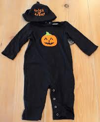 new pottery barn kids halloween pumpkin baby costume 6 12 months