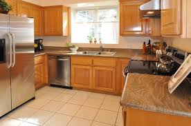 kitchen cabinet color honey oak cabinets and granite like this color honey oak
