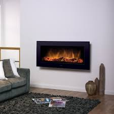 dimplex sp16 wall mounted or inset electric flame effect fire in