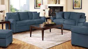 Blue Sofas And Loveseats Navy Blue Gray U0026 White Living Room Furniture Ideas U0026 Decor