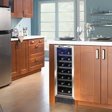 Stainless Steel Ice Chest On Wheels Costco by Kitchen Island With Wine Cooler Outofhome