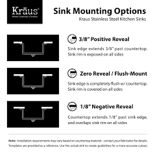 How To Install Kitchen Sink Faucet by Stainless Steel Kitchen Sink Combination Kraususa Com