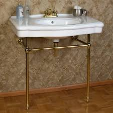 Console Sinks Bathroom Pennington Console Sink With Brass Stand Signaturehardware Com