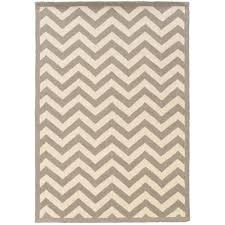 linon home decor rugs linon home decor silhouette chevron grey and white 5 ft x 7 ft