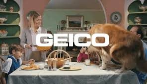 Dogs At Dinner Table Geico Ad With The Dog Eating On The Table Business Insider