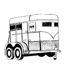 coloring pages horse trailer coloring pages horse trailer clipart myownip co