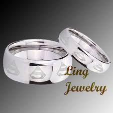 superman wedding rings omg for my and in