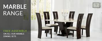 marble dining tables chair sets oak furniture superstore