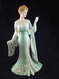home interior figurines home interiors porcelain figurine amelia 2005 14054 homeco