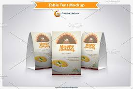 Table Tents Template Table Tent Mockup Template Product Mockups Creative Market