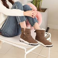 s boots comfort s side buckle boots