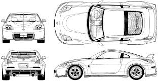 fairlady z white 2007 nissan fairlady z 350z nismo coupe blueprints free outlines