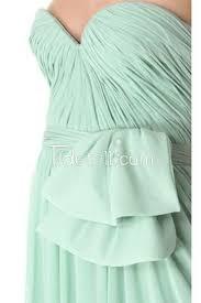 mint green a line sweetheart strapless chiffon long prom dress