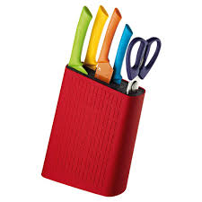 Coloured Kitchen Knives by Scanpan Spectrum 6pce Cutlery Block Set Multi Colour Starbuy