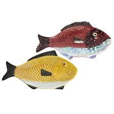 ceramic fish platter mid century portuguese glazed ceramic fish platters circa 1960 at