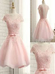 light pink graduation dresses cute light pink tulle handmade short prom dress with lace applique
