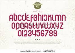 set rounded style alphabet letters numbers imagem vetorial de