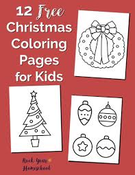 12 free christmas coloring pages kids rock homeschool
