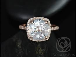 white topaz engagement ring rosados box barra 10mm 14kt gold white topaz and