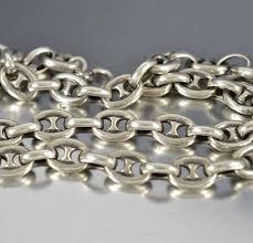antique necklace silver images Antique silver marine anchor chain necklace gucci boylerpf jpg