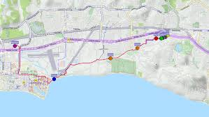 Santa Barbara Map Santa Barbara Solar System Ride Austin Riba