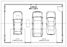 size of a 3 car garage width of a two car garage door dimensions minimum 2 intended for