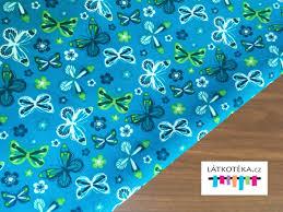 Modre by Softshell Softshell Zimní S Fleecem 10 3 Motýlci Na Modré