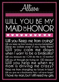 will you be my of honor ideas 225 best will you be my bridesmaid creative ways to ask