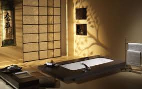 wallpaper interior design bathroom japanese style minimalism