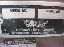 1994 grasshopper 725 riding lawn mower item k2995 sold