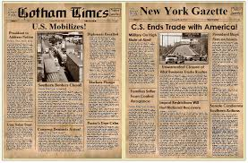 10 best images of old time newspaper template newspaper