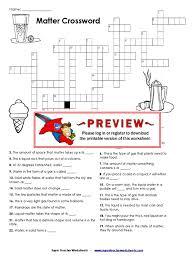 Worksheets Com Matter Crossword Liquids Matter