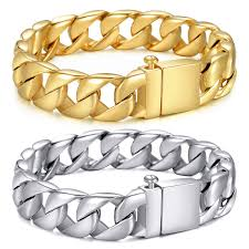 stainless mens bracelet images 15mm mens bracelet chain 316l stainless steel gold silver curb JPG