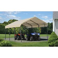 Garage With Carport Carport In A Box 12 U0027 X 20 U0027 X 9 U0027 Walmart Com
