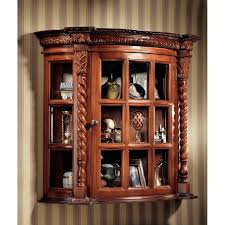 charming kitchen wall mounted curio cabinet come with rectangle