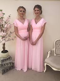 pink bridesmaid dresses layla dress chiffon capped bridesmaid dress sleeve vintage prom