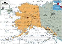Alaska And Usa Map by Geoatlas United States Canada Alaska Map City Illustrator